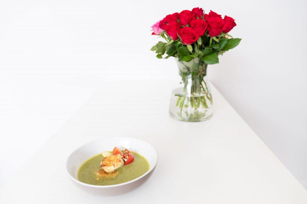 Saladegeitenkaassoep - Soepiemonster  - wilkemartens