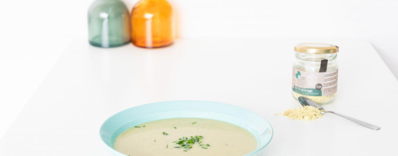 veganistische aspergesoep - soepiemonster