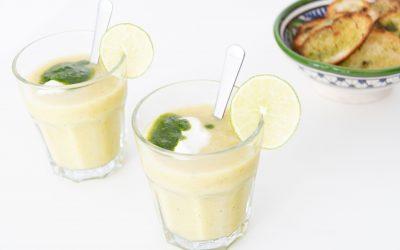Courgettegazpacho met kruidenolie